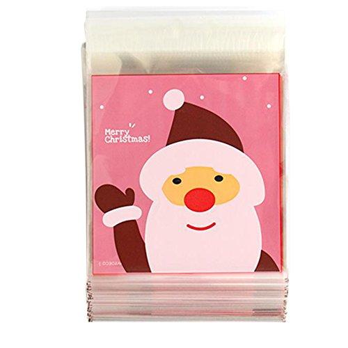 ihnachten Candy wrapper selbstdichtend Xmas Decor Geschenk Kunststoff Tasche Kunststoff, plastik, F, 10*11+3CM (Kunststoff-weihnachten-taschen)
