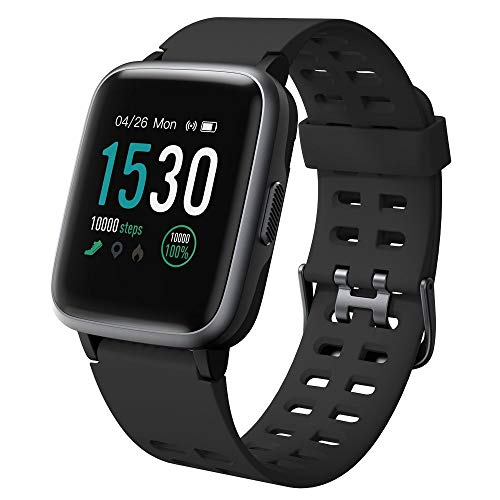 Willful Smartwatch,Fitness Armband mit Pulsuhr 1,3 Zoll Touchscreen Fitness Uhr 5ATM Wasserdicht Fitness Tracker Sportuhr mit Schrittzähler Stoppuhr Smart Watch für Damen Herren für iOS Android Handy