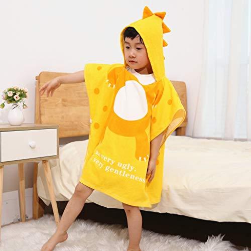 Tier Kapuze Baby-Handtuch Waschlappen Ultra Soft und Extra Large, 100% Baumwolle Bademantel for Dusche Geschenk for Jungen oder Mädchen (2-6 Jahre) (Color : Yellow)