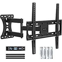 Eono by Amazon - TV Wall Bracket Swivel and Tilt, TV Wall Mount for Most 26-55 inch LED, LCD and OLED TVs up to VESA 400x400mm and 27kg, with Articulating Arm, incl. Fischer Anchors, TV Bracket PL2432