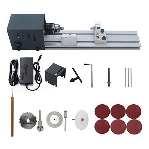 ADDG Kleine Drehmaschine Holzbearbeitung DIY Drehmaschine Set Mini Perlendrehmaschine