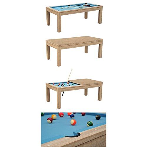 Preisvergleich Produktbild Poolbillard-Tisch,  mit Zubehör,  zum Esstisch umbaubar