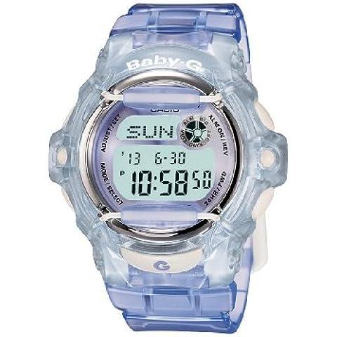 CASIO Baby-G BG-169R-6ER - Reloj de mujer de cuarzo, correa de resina color lila (con cronómetro, alarma, luz)