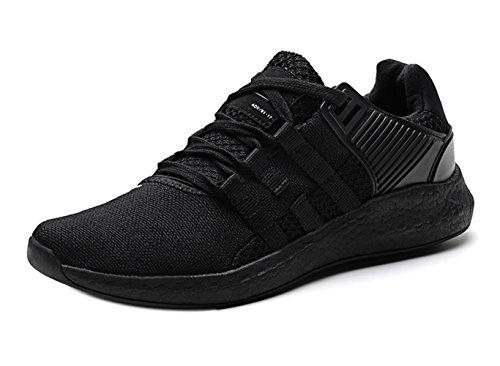 purchase cheap 7cfc8 d960b SOCOO Hombre Mujer Running Zapatos Zapatillas de Deporte Gimnasia para  Caminar Negro Zapatillas de Punto 35