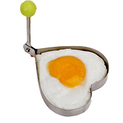 wortek Eierform Edelstahl Spiegelei Form Omelett Former Pfannkuchen Eierkuchen Ring Eierring Herz
