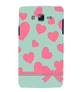 printtech Love Heart Pattern Back Case Cover for Samsung Galaxy Quattro i8552 / Samsung Galaxy Quattro Win i8552