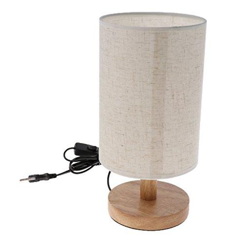 Homyl Stoff Lampenschirm E27 Lampenfassung mit Schalter und Kabel für Tischleuchte/Nachttischlampe - Farbe 1