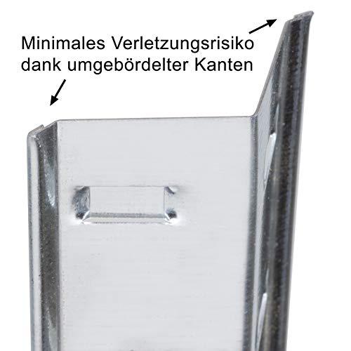 Doppelregal Steckregal Schwerlastregal Kellerregal 160 x 160 x 40cm - 4