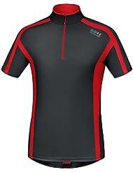 GORE RUNNING WEAR Herren Kurzarm-Laufshirt, GORE Selected Fabrics, AIR Zip Shirt, SSZAIR