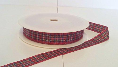 1 metre trim of Royal Stewart Tartan Ribbon 12mm wide by RP RIBBON Royal Trim