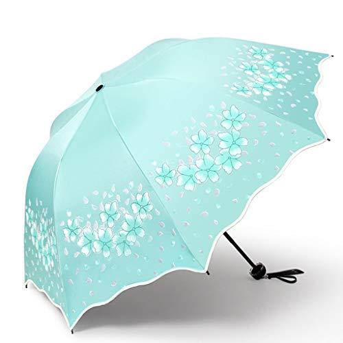 GONGFF Umbrella \u0026 Folding Paradise Parasol Sonnenschutz UV-Sonnenbrille Vinyl-Sonnenschutz zur Stärkung der dreifach faltbaren Sonne und des Regens (Farbe: B)