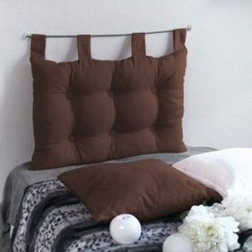 Enjoy home 2007chtl070045 - testiera da letto in tessuto, 70 x 9 x 45 cm, tessuto, cioccolato, 9 x 45 cm