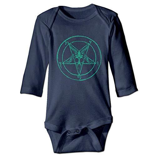 WBinHua Bodysuits Baby Body, Bertha Green Baphomet Baby Boys Girls Long Sleeve Onesies Bodysuits