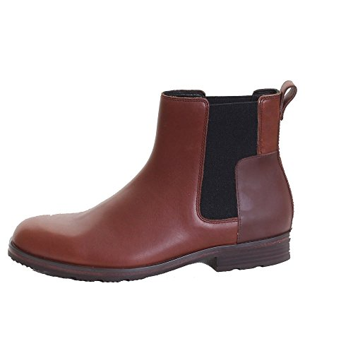 Hunter Original Raffiné En Cuir Mens Chelsea Boot Dark Tan