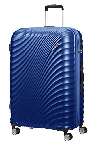 American Tourister Jetglam - Spinner Large Expandable Valigia, 77 cm, 109 liters, Blu (Metallic Blue)