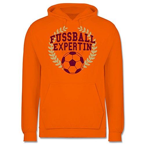 Fußball - Fussball Expertin - Männer Premium Kapuzenpullover / Hoodie Orange