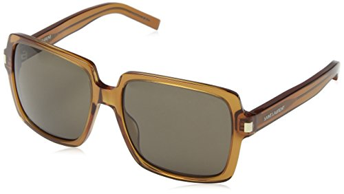 Saint Laurent Damen SL 65 A5W Sonnenbrille, Grau (Brown), One size