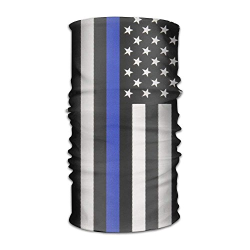 Voxpkrs Headband Thin Blue Line USA Flag Outdoor Multifunctional Headwear,Your Magic Headwear