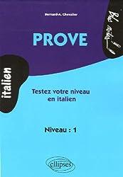 Prove : Testez votre niveau en italien niveau 1