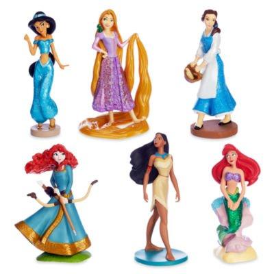 Offizielle Disney Princess Active Figur Set enthalten Rapunzel, Ariel und Belle, Glitzer detailliert.