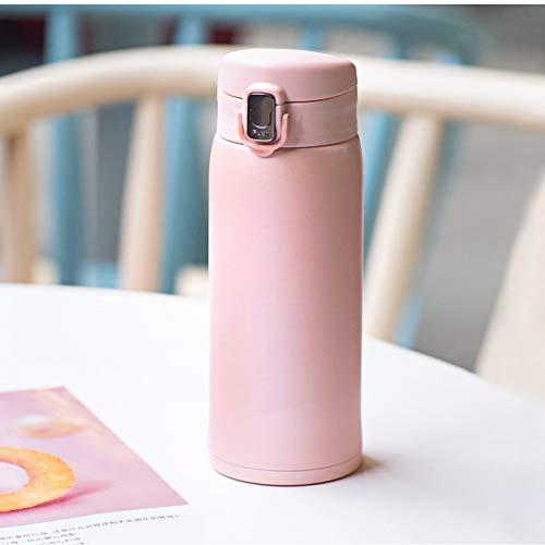 WDCSHJSJD Thermoskanne Doppelwandige Isolierflaschen aus Edelstahl 500 ml Kaffee Tee Milch Reisebecher Thermobecher Flasche -