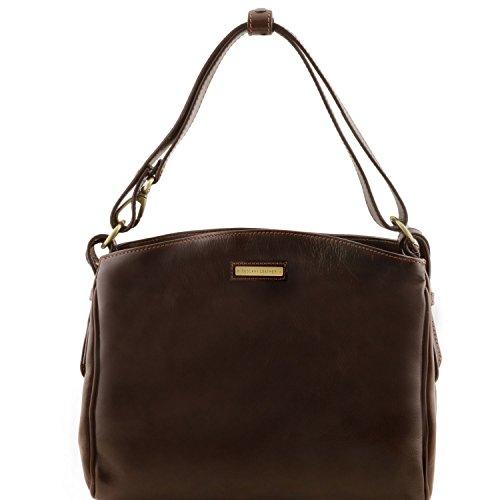 Tuscany Leather Sara Borsa a tracolla in pelle Nero Testa di Moro