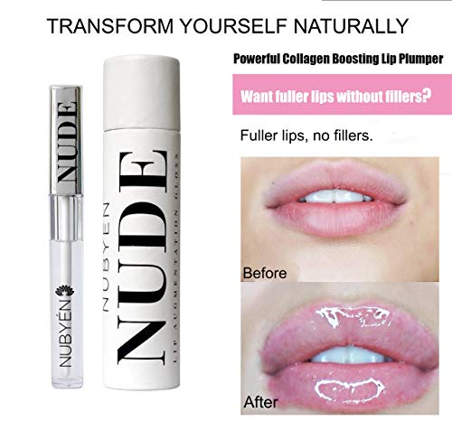 Powerful Volumizing Augmentation Plumping Serum Lip Gloss Formulated by a team of doctors Natural Chilli Cinnamon Safe Reversible as an Alternative to lip fillers 1.83oz