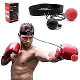 SPECOOL Boxe Réflexe Ballon de Combat,Balle de Combat avec Bandeau de Tête Ballon de Boxe pour La Formation de Vitesse Réflexe Punch Exercice Entraînement