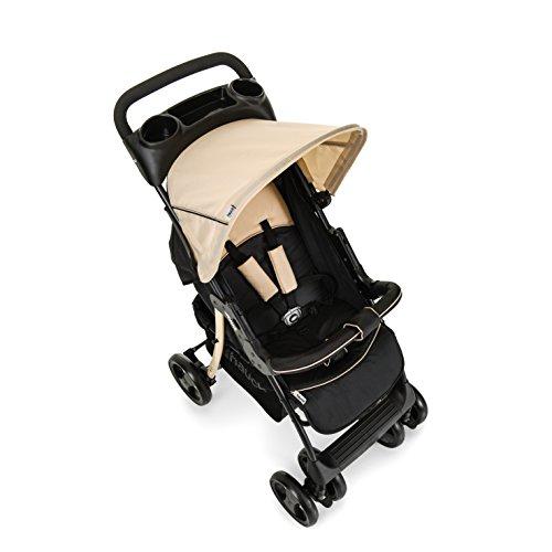 Hauck/Poussette Combinée 3 en 1/Shopper SLX Trio Set/avec siège-auto Groupe 0 et nacelle/poussette sport/porte-boissons/légère/pliage compact/de la naissance jusqu'à 22 kg, noir beige (caviar beige)