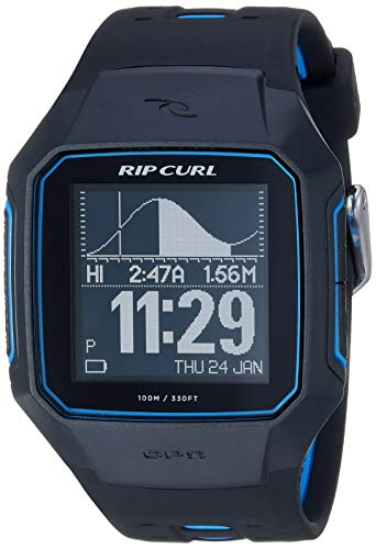 Rip Curl SearchGPS - Reloj Deportivo de Cuarzo para Hombre, de plástico y Poliuretano, Color Negro (Modelo: A1144-BLU)