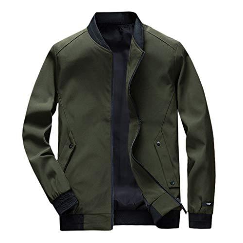 CLOOM Jacket Motorcycle Hombre Casual Color Sólido