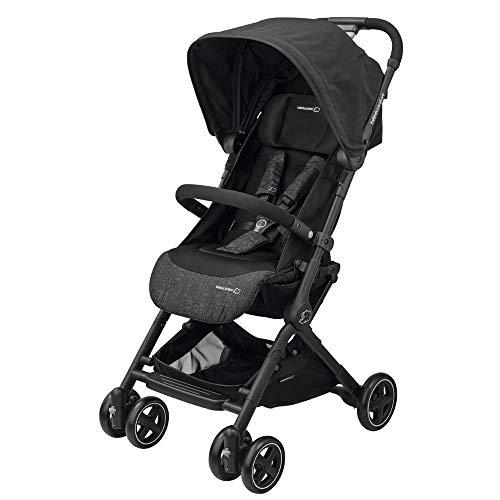 Bébé Confort Lara, Poussette canne Ultra compacte, De la naissance à 3,5ans (0-15kg), Nomad Black