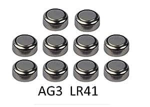 Lot 10 Piles bouton Batterie Alcaline AG3 LR41 247 247B 280-18 280-13 WS4 S13