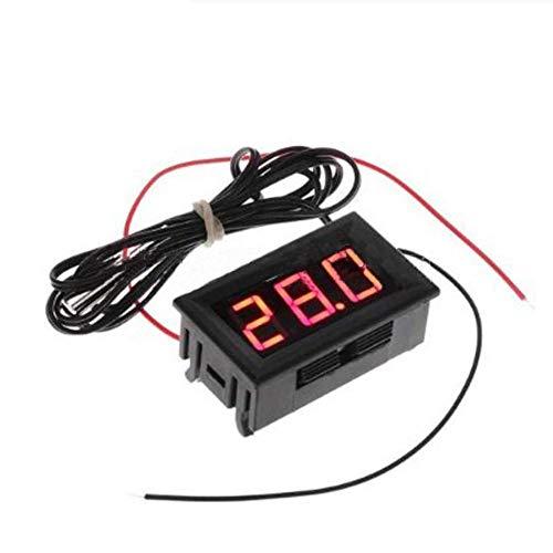 perfecthome Aquarium Wassertemperaturanzeige, 50~110 ℃ wasserdichtes Thermometer Digital-Thermometer Großbildschirm LED-Anzeige Thermostat für Aquarium-Kühlschrank