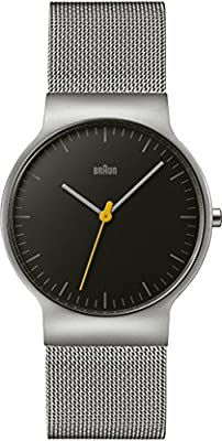 Braun BN0211BKSLMHG - Reloj unisex, correa de acero inoxidable color plateado de Braun