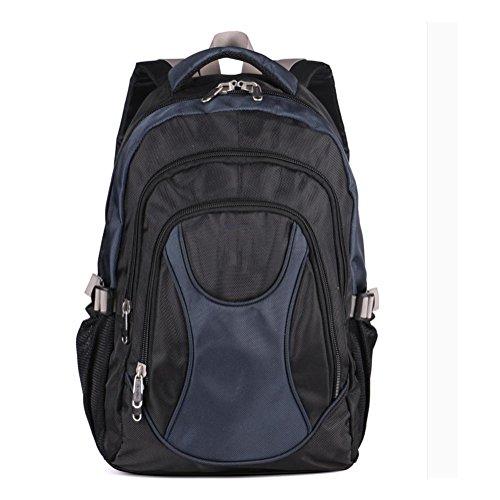 Nylon wasserdicht 15 Zoll Notebook Rucksack Freizeit Reise Schule Rucksäcke für Männer und Frauen dark blue