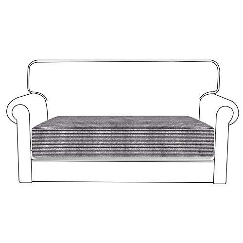 Lovestory copriseduta divano elasticizzato 1/2/3 posti divano cuscino anti splash acqua alta qualità (grigio chiaro, 2 posti)