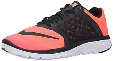Women's Nike FS Lite Run 3 Running Shoe Lava Glow/White/Black Size 10 M US