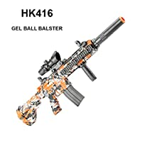 GELRIZTY HK416 Gel Ball Blaster - Electric Gel Soil Water Crystal Beads Toy Blaster - Safe and Harmless Toy Gun - Cool Emulation Shape