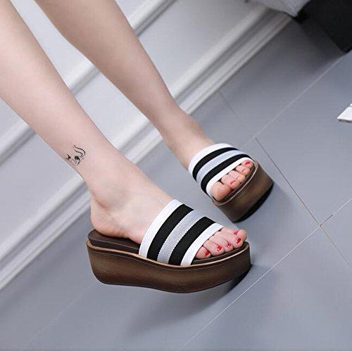4 sortes de couleurs Chaussures féminines grossières et décontractées Chaussons de mode (7cm) ( Couleur : 1004 , taille : EU40/UK7/CN41 ) 1004