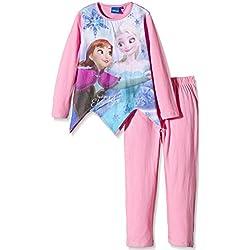 DISNEY Frozen - Pijama de manga larga, para niñas, color rosa, talla 6 años