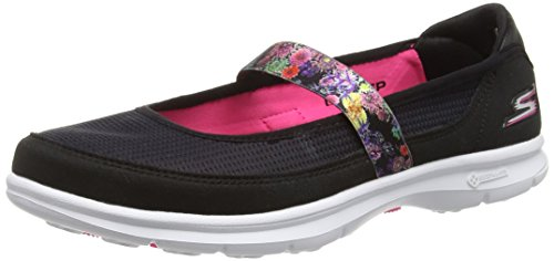 Skechers - Go Step bloom, Ballerine Donna Nero (Nero (Bkhp))