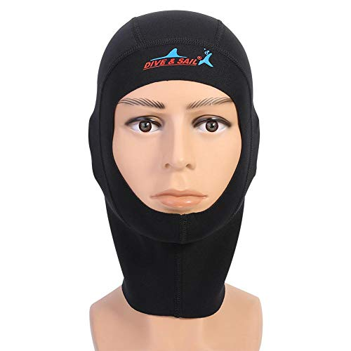 Gorro de Neopreno Sport Swim Scuba Snorkeling Wet Suit Hood Gorro de Buceo Surf Diving Cap(L-3mm)