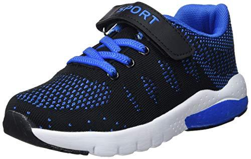 Chaussure de Course Sport Walking Shoes Running Compétition Entraînement Chaussure à la Mode , Sneakers Basket Chaussure Scolaire l'école pour Garçon et Fille Enfant (31 EU, Bleu)