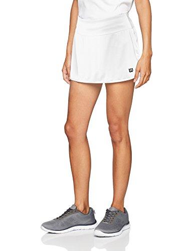 Wilson Damen Tennis-Rock, W Team 12.5'' Skirt, Polyester/Elasthan, Weiß, Größe: S, WRA766201