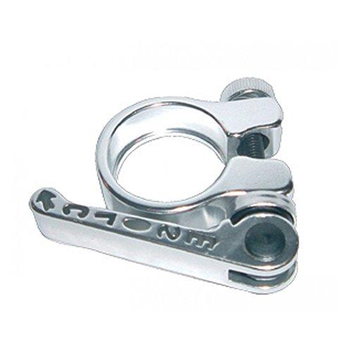 Sattelklemme Alu mit SSP IDØ28.6mm für Einrad-Sattelstütze Ø 25.4mm, silber