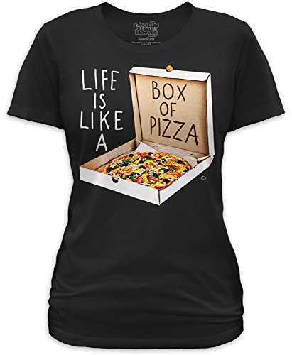 amen T-Shirt LIFE IS LIKE A BOX OF PIZZA Schwarz XL (Goodie-boxen)