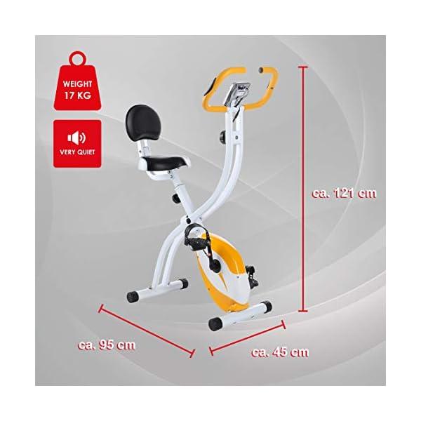 Ultrasport Unisex F-Bike Advanced Exercise Bike, Display LCD, Home Trainer Pieghevole, Livelli di Resistenza Regolabili… 4 spesavip