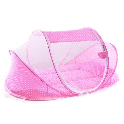Rokoo Tragbare Weiche Babybett 0-3 Jahre Bettwäsche Moskitonetz Faltbare Bett Baumwolle Schlaf Reisebetten Kinderbetten Kissenmatte Setat - Bettwäsche-sets Baby-krippe