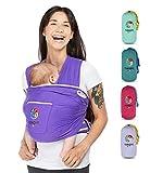 YUNIQME Harmonie Babytragetuch – weiche 100% Baumwolle – elastisches Tragetuch mit optimiertem Flächengewicht – Baby Tragetuch für Neugeborene – OEKO TEX – neue Trendfarben
